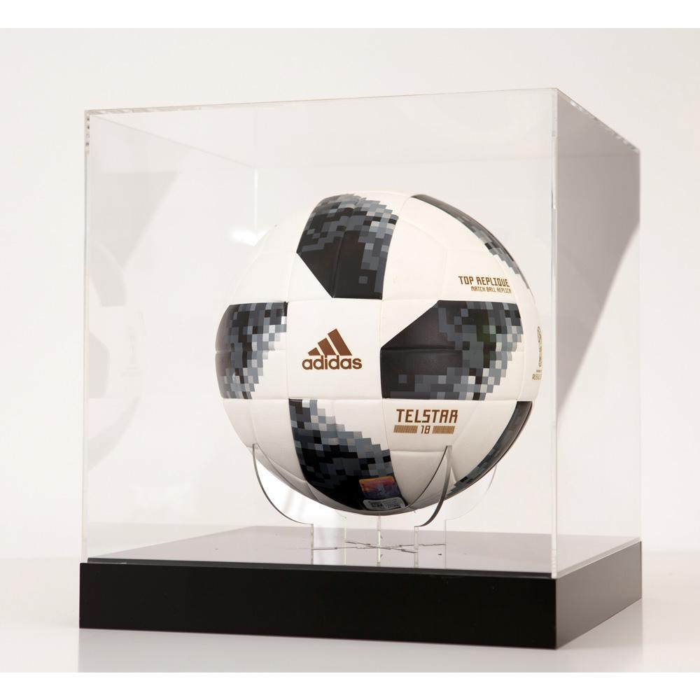 caixa de acrílico bola de futebol